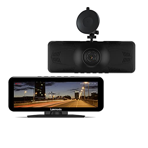 """LANMODO Vast Pro Dash Cam with Full Color Super Night Vision max 984ft, 1080P Car Driving Recorder, WDR/HDR, Sony Sensor, 8"""" Large Screen, Loop Recording, 24hr Parking Monitor, G-Sensor, Support 128G"""