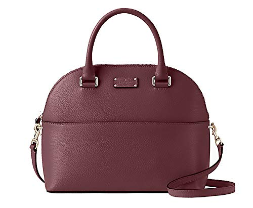 Kate Spade Grove Street Carli Leather Crossbody Bag Purse Satchel Shoulder Bag (Cherrywood)