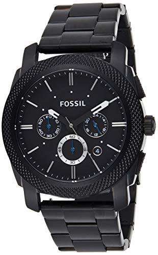 Fossil Men's Machine Chrono Quartz Stainless Chronograph Watch, Color: Black (Model: FS4552IE)