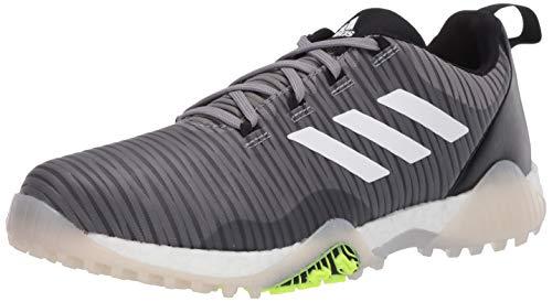 adidas Men's CODECHAOS Golf Shoe, Grey Three/Signal Green/Glory Blue, 11.5 Medium US