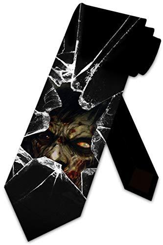 Halloween Ties Mens Costume Necktie Zombie Tie by Three Rooker