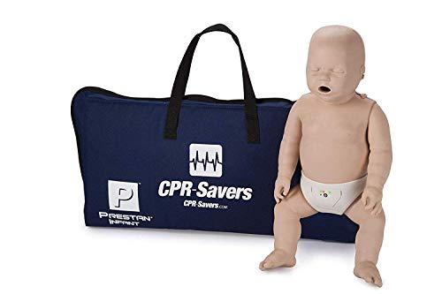 CPR Savers Prestan Professional Infant CPR Training Manikin with 2019 AHA Feedback Monitor, Medium Skin, PP-IM-100M-MS