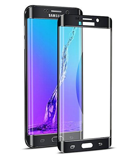 Galaxy S6 Edge Plus Screen Protector,Elebase 3D CurvedTempered Glass,Anti-Scratch,9H Hardness,Full Coverage,Clear Anti-Bubble Film for Samsung Galaxy S6 Edge Plus(Black)(Not for S6 Edge)