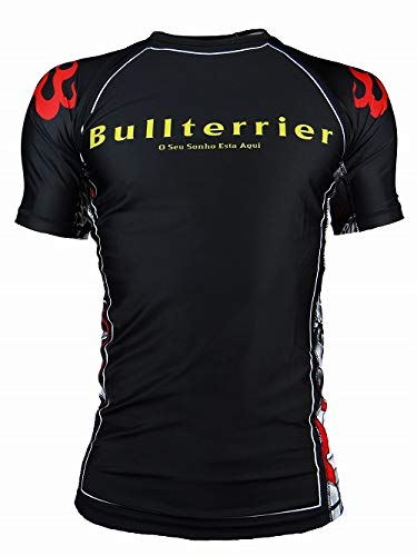 Bull Terrier Fight Gear Bullterrier Rash Guard MUSHIN 3.0 Short Sleeve Black (L)