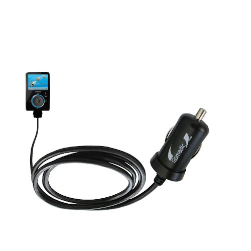Mini 10W Car/Auto DC Charger Designed for The Sandisk Sansa Fuze with Gomadic Brand Power Sleep Technology - Designed to Last with TipExchange Technology