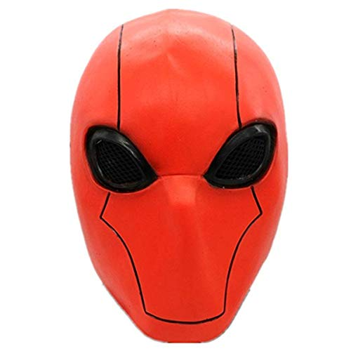 Deluxe Red Hood Mask Injustice League 2 Adult Full Head Helmet Cosplay Costume Halloween Accessory