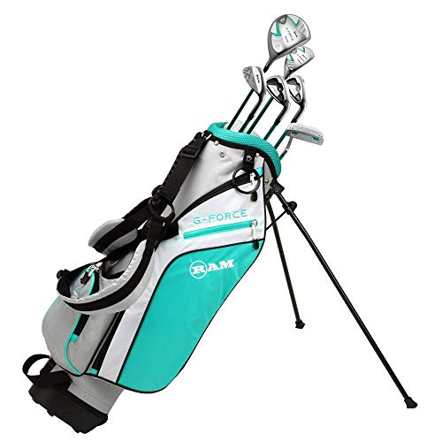 Ram Golf Junior G-Force Girls Right Hand Golf Clubs Set with Bag (Ages 7-9)