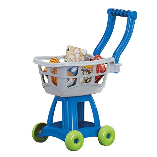 American Plastic Toys Kids Shopping Cart Set, Gray