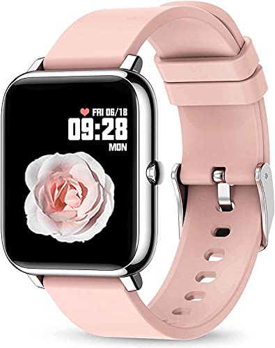 Rogbid Rowatch 1 Smart Watch for Women Girl 1.4' Touch Screen Blood Pressure Blood Oxygen Sleep Heart Rate Monitor IP67 Waterproof Smartwatch Fitness Activity Tracker Watch Compatible iPhone Android