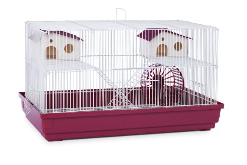 Prevue Hendryx SP2060R Deluxe Hamster and Gerbil Cage, Bordeaux Red,Small