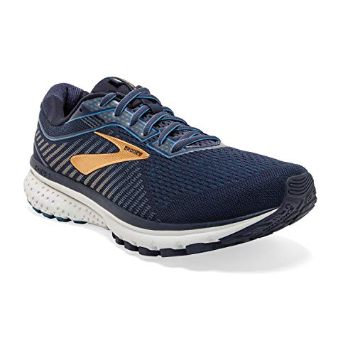 Brooks Men's Ghost 12, Navy/Gold, 13 D