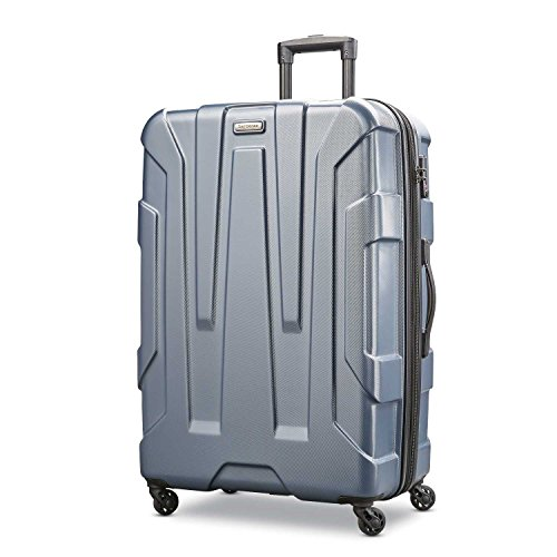 Samsonite Centric Hardside Expandable Luggage with Spinner Wheels, Blue Slate, Checked-Large 28-Inch