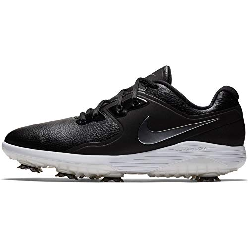 NIKE Men's Vapor Pro Golf Shoe, Black/Metallic cool Grey - White - Volt, 8 M US