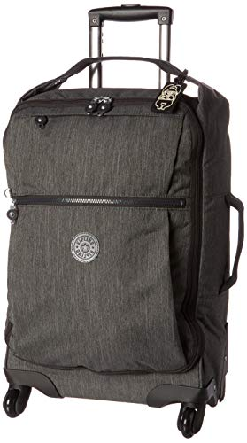 Kipling Darcey Softside Spinner Wheel Luggage, Black Peppery, Carry-On 22-Inch