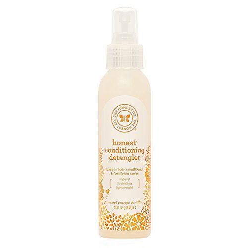 The Honest Company Sweet Orange Vanilla Conditioning Detangler Spray   Lightweight Leave-in Conditioner & Fortifying Spray   Paraben & Synthetic Fragrance Free   Plant-Based   VEGAN   4 fl. oz.