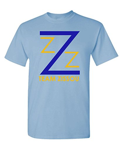 The Goozler Team Zissou - Intern Aquatic Movie Comedy - Mens Cotton T-Shirt, L, Lt Blue