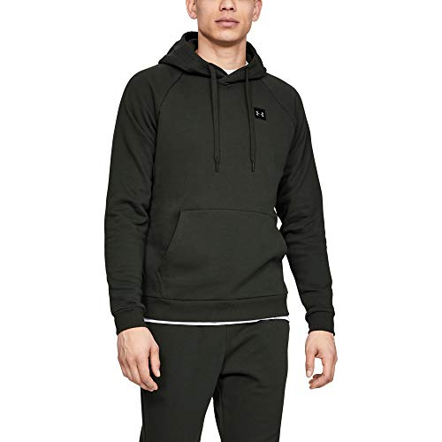 Under Armour Men's Rival Fleece Pullover Hoodie , Baroque Green (310)/Black , XX-Large