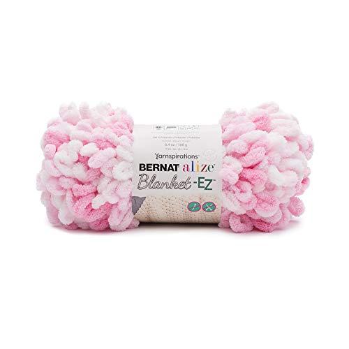 Bernat 16103737002 Alize Blanket-EZ Yarn White & Pink