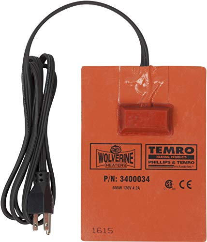 Zerostart 3400034 Silicone Pad Heater Engine Oil, Transmission Fluid, Reservoir and Hydraulic Fluid Heater, 5' (13 cm) x 7' (18 cm) | CSA Approved | 120 Volts | 500 Watts