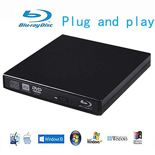 Blu-Ray Player External USB DVD RW Laptop Burner Drive