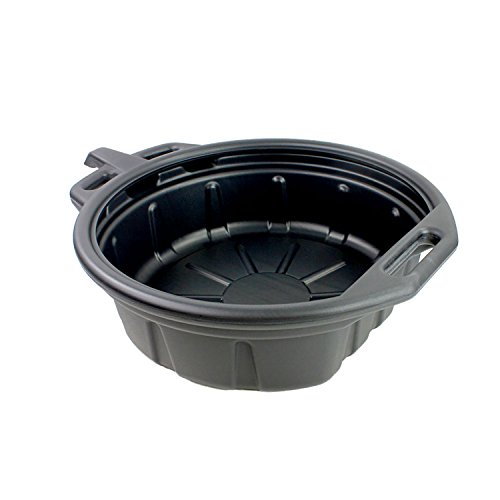 Capri Tools CP21024 Portable Oil Drain Pan, 2 gallon, Black