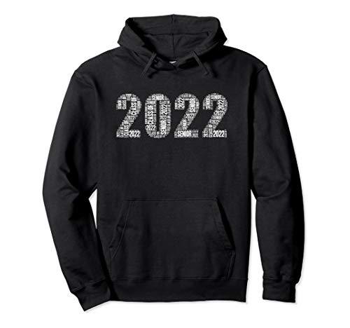 Senior Class of 2022 Word Art High School College Junior Pullover Hoodie