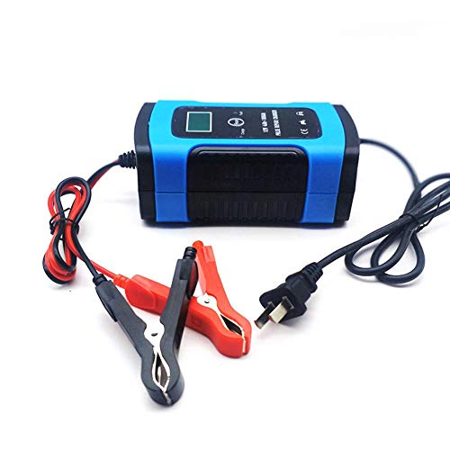 Niome Portable Car Jump Starter 12V 6A Compatible Automotive Smart Portable Battery Charger Maintainer/Pulse Repair Charger Pack Jump Starter for Car, Motorcycle (Blue)