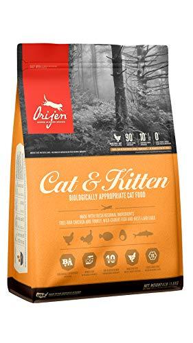 ORIJEN Dry Cat Food for Cats & Kittens, Premium Fresh & Raw Animal Ingredients, 4lb