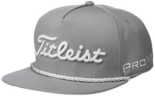 Titleist Men's Tour Rope Flat Bill Hat Grey/White