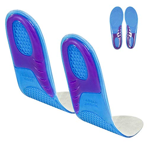 Envelop Gel Insoles - Shoe Inserts for Walking, Running, Hiking - Full Length Orthotics for Men, Women - Cushion Soles for Heels, Arch Support, Plantar Fasciitis, Massaging Flat Feet - Fits Work Boots