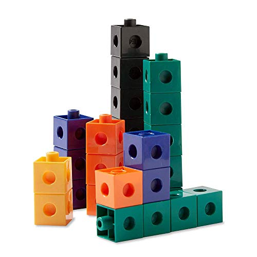 hand2mind Interlocking Pop Cubes, Math Cubes for Early Math Ages 5+, Educational Toys for Counting, Math Manipulatives, Counting Cubes for Kids Math, Homeschool Supplies (Set of 100)
