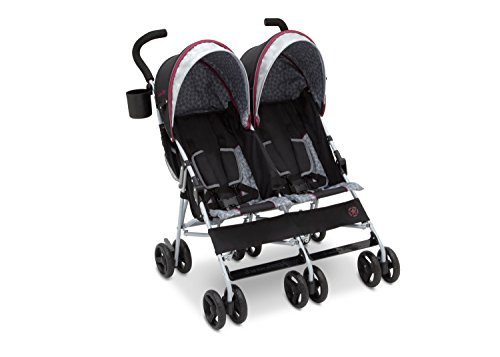 Jeep Scout Double Stroller, Lunar Burgundy