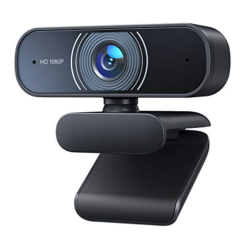 1080P Webcam, Desktop Camera with Dual Microphones, for PC/Mac Book/Laptop. Compatible with Windows, MacOS, NetWare, Linux