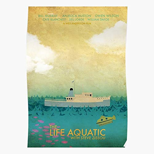 kineticards Ocean Wes The Anderson Sea Aquatic Submarine Movie Water Film Life | Home Decor Wall Art Print Poster