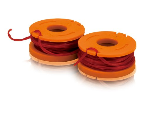 WORX WA0004 2-Pack Replacement Trimmer Line for Select Electric String, Red