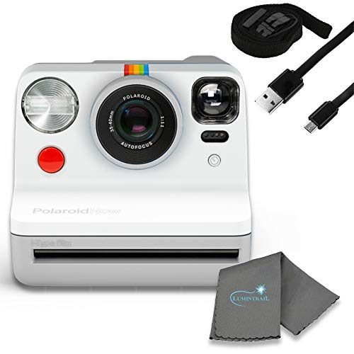Polaroid Now I-Type Instant Film Camera Bundle with a Lumintrail Cleaning Cloth