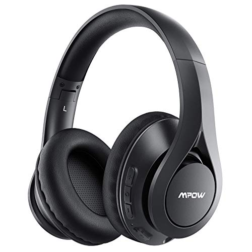 Mpow 60Hrs Bluetooth Headphones, Wireless Headphones Over Ear with Bluetooth 5.0, HiFi Stereo, Protein Earpads, CVC6.0 Mic, Wireless Wired Headset for Kids, Adults, Home Office, Online Class