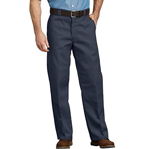 Dickies Men's Loose Fit Double Knee Twill Work Pant, Dark Navy, 34W x 30L