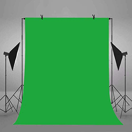 6x9ft/1.8x2.7m Green Screen Backdrop Polyester Fabric Chromakey Panel for Professional Solid Color Photography Background Removal YouTube Photo Video Studio Props F-FUN SOUL FSS003