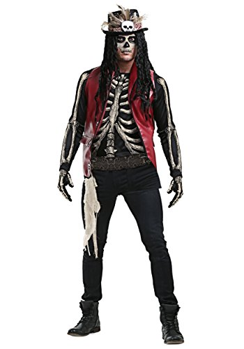 Mens Voodoo Doctor Costume Deluxe Witch Doctor Costume Adult X-Large Black