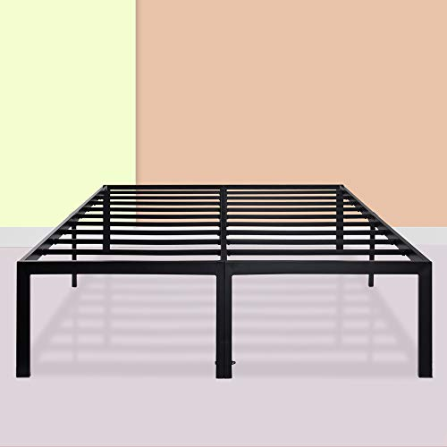 PrimaSleep 18 Inch Dura Metal Platform, California King Size, Black, Height for Under-Bed Storage
