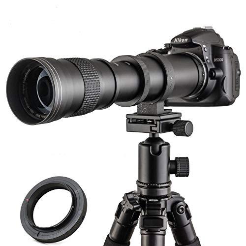 JINTU 420-800mm f/ 8.3-F16 Manual Telephoto Camera Zoom Lens for Canon EOS DSLR Cameras 4000D 90D 60D, 70D 77D, 70D,80D, 850D 650D, 750D, 7D, T7i, T7s, T7, T6s, T6i, T6, T5i, T5, SL2 SL1 Digital