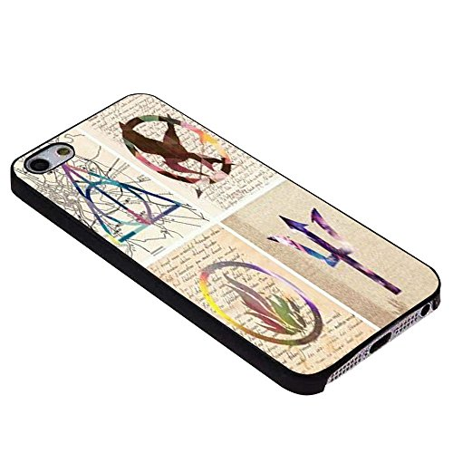 Harry Potter The Hunger Games Divergent Percy Jackson Symbol Art for iPhone Case (iPhone 6s Black)