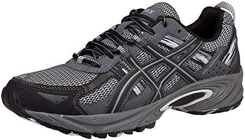 ASICS Men's Gel Venture 5 Trail Running Shoe, Silver/Onyx/Black, 10 M US