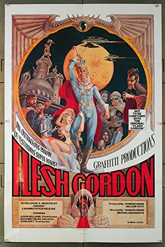 Flesh Gordon (1974) Original Soft Core Spoof Movie Poster JASON WILLIAMS Film Directed by HOWARD ZIEHM and MICHAEL BENVENISTE