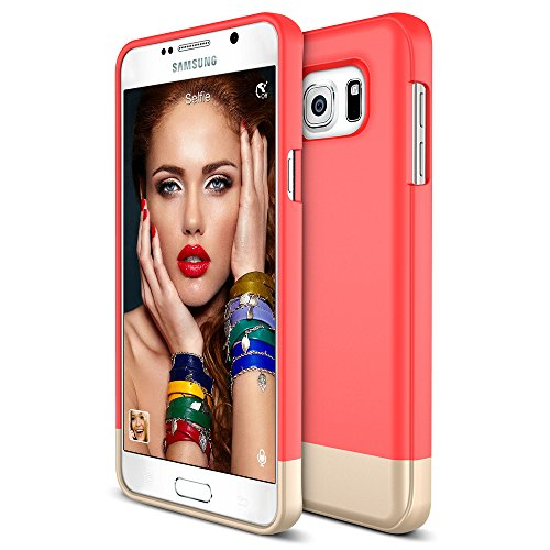 Maxboost Galaxy Note 5 Case Vibrance Series, Samsung Galaxy Note 5 Case Soft Interior Scratch Protection Slider Style Hard Case for Samsung Galaxy Note 5 (2015) - Italian Rose/Champagne Gold