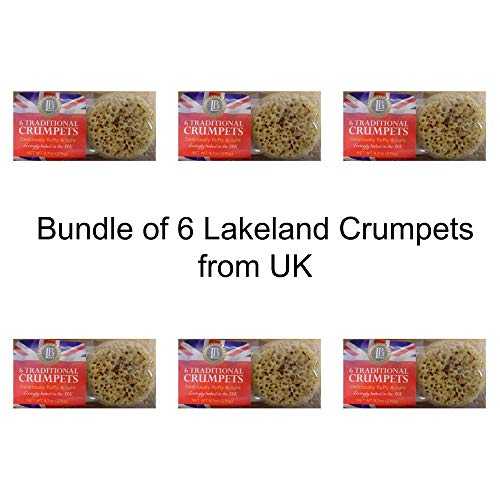 Bundle of 6 Lakeland Bake, Traditional British Crumpets, 6ct x 6 Packages Product of UK – GMO Free Expiry June 2021 Delivers 3-5 Days USA
