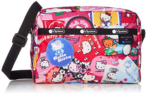 LeSportsac Hello Kitty Collector Exclusive Daniella Crossbody Bag, Style 2434/Color G631, Hello Kitty Design Zipper Pull