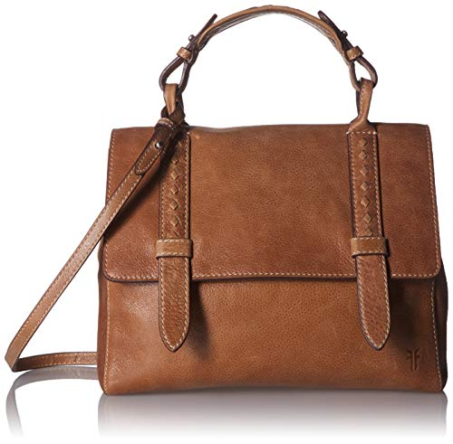 Frye Reed Flap Leather Satchel Bag, Tan