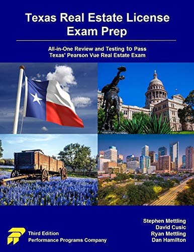 Texas Real Estate License Exam Prep: All-in-One Review and Testing to Pass Texas' Pearson Vue Real Estate Exam
